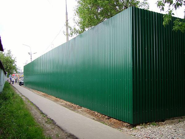 забор металлопрофиля орша